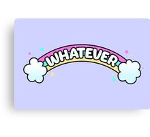 Whatever // Sarcastic Rainbow Pastel Goth Canvas Print