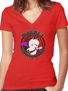 Mognet Delivery Service Women's Fitted V-Neck T-Shirt