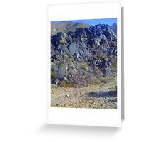 Remnants of Cretaceous volcanic rocks  Greeting Card