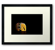 Wood Elephant Framed Print