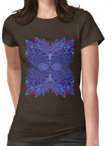 Flower Fractal Womens Fitted T-Shirt