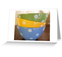 Coloured breakfast bowls 2 Greeting Card