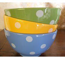 Coloured breakfast bowls 2 Photographic Print