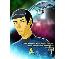 Tribute to Nimoy Photographic Print