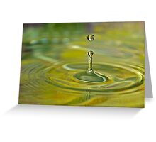 Droplet. Greeting Card