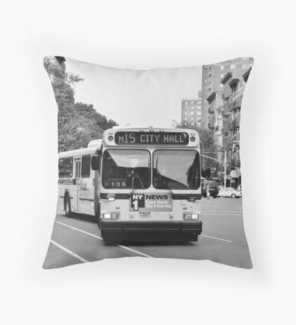 City Bus Throw Pillow