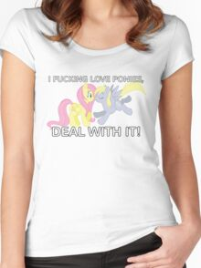 I Love Ponies! With Text Women's Fitted Scoop T-Shirt