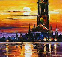 OLD TOWER - LEONID AFREMOV by Leonid  Afremov