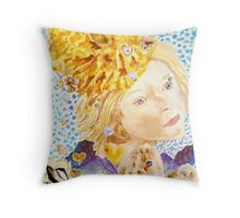 Angel of the Marigold Throw Pillow