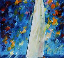 WHITE SAIL - LEONID AFREMOV by Leonid  Afremov