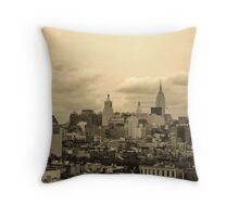 Old World City Throw Pillow