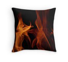 Flame Dancers Throw Pillow