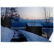 Dusk, Lake Kochelsee, Germany Poster