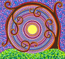 Spiraling and twisting Tree of Life by Elspeth McLean