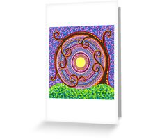 Spiraling and twisting Tree of Life Greeting Card