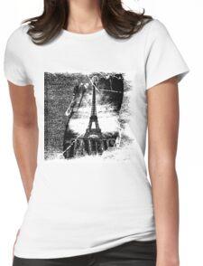 Vintage Eiffel Tower Paris #1 T-shirt Womens Fitted T-Shirt