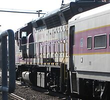Commuter Rail at Norwood Depot Station by Eric Sanford