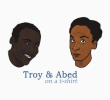 Troy&Abed on a t-shirt by Nana Leonti