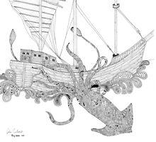 Paisley Kraken 1 by Joshua  Whitehead
