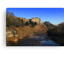 Richmond Castle high above the River Swale, England Canvas Print