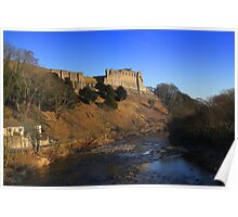 Richmond Castle high above the River Swale, England Poster