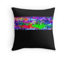 Glitchy Throw Pillow