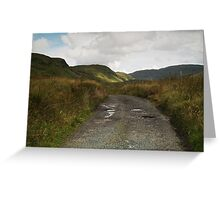 Blue Stack Mountain Road Greeting Card