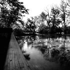 Dock and Lake Black and White by moose2012