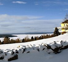 Yellow house on Moosehead Lake by moose2012