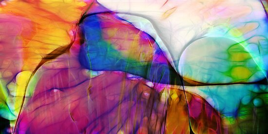 Coloured Abstract by Benedikt Amrhein