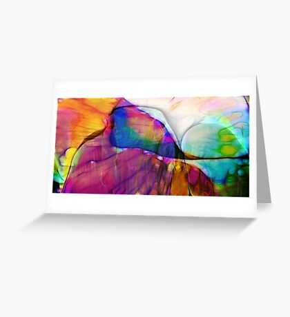Coloured Abstract Greeting Card