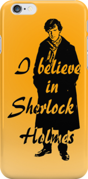 I believe in sherlock Holmes - orange by ibx93