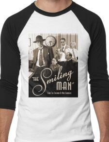 """The Smiling Man"" Poster - Vintage Men's Baseball ¾ T-Shirt"