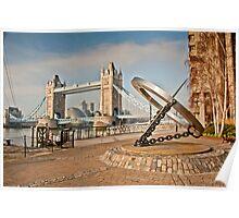Sundial at Tower Bridge: London Poster