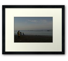 The Pull Framed Print