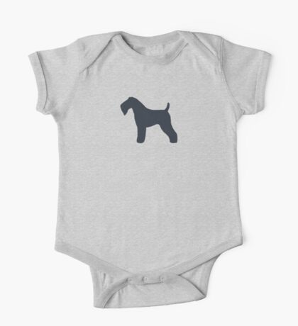 Kerry Blue Terrier Silhouette(s) One Piece - Short Sleeve