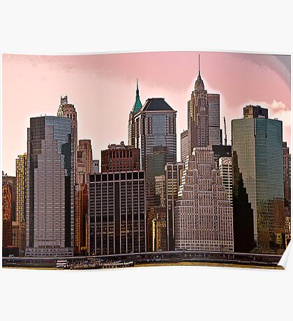 My NY 11--Lower Manhattan Poster