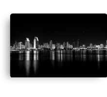 San Diego skyline in black and white. Canvas Print