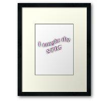I Taught the STIG in Pink Framed Print