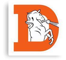 Denver Broncos Logo 1 Canvas Print