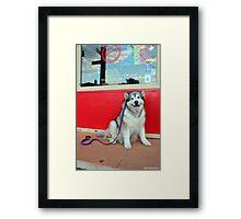 Red Cafe Framed Print
