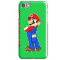 Super Plumber's Butt iPhone Case/Skin