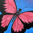 Kazart Butterfly Pink No.2 Greeting Card by Karen Sagovac
