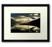 Lake Te Anau. South Island, New Zealand Framed Print