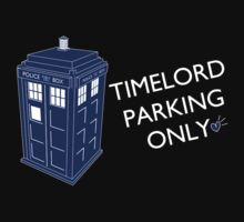 Time Lord Parking Only Kids Tee