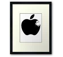 And the Android Takes A Bite Into the Apple Framed Print