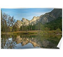 Cathedral Rocks Reflections Poster