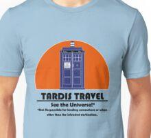 TARDIS Travel Agency (Black) Unisex T-Shirt