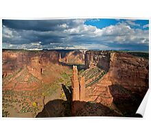 Storm Clouds over Spider Rock Poster