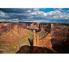 Storm Clouds over Spider Rock Photographic Print